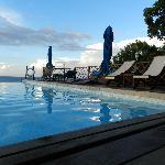 Pool view near sunset