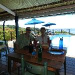 Dining is a pleasure great food and a stunning view