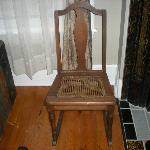 caned chair you could not sit on.