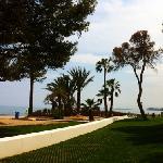 strandkant van het hotel