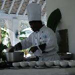 Chef Andre's cooking demo