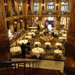 View of Rotunda setup for lunch