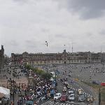 View of Zócalo from our room