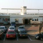 Reception is across the car park from the rooms