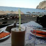 frappe at taverna in the fron of the hotel