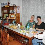 Having dinner in Asmita B&B