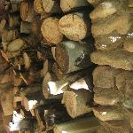 Firewood stock at entry