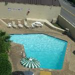 Hotel pool, view from balcony