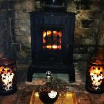 Wood burner, candlelight & sherry at the end of a day - heaven