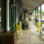The Bell Buckle Cafe is nestled among several interesting shops.