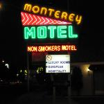 Sign in front of motel