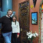 Andrew and Janet in their lovely Riad.