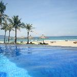 Swimming pool and the beach