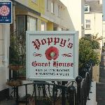 Sign for Poppy's Guest House
