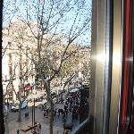 I could see Las Ramblas from my window.