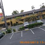 view of parking lot from our room # 235
