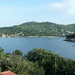 Early morning view across the bay to Zaton from balcony of Apartment No 3