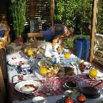 The amazing breakfast spread