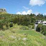 Waimanu Lodge nestled below St Pauls Rock Scenic Reserve
