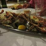 Our big seafood platter-the photo doesn't do it justice