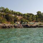spiaggia privata vista dal mare