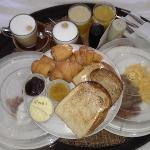 breakfast delivered to our room