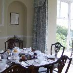 New dining room with fantastic views across Penrith to Lakeland fells.