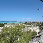 panorama da dietro la spiaggia