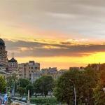 Beautiful sunset in Kharkov