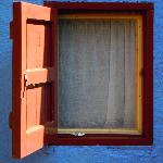small window of blue room