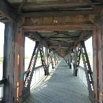 Pedestrian bridge over the river