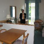 Suite #1, with a receptionist