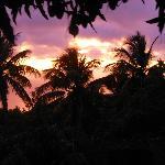 Sunset on Calabash's back deck