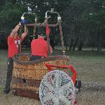 Jeff and Channy preparing the basket