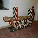 antique sled in the hotel