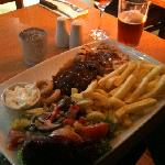 The Chicken & Ribs combo, very nice indeed. May need a belly rub afterwards!
