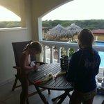uitzicht vanaf kamer, snorkel poetsen