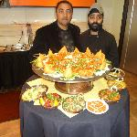 Bj Patel and Chef Isham Singh presenting the weekend lunch buffet