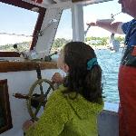 kids can get a chance to steer the boat!