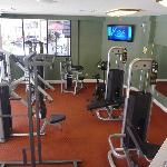 Workout area with hot tub, by the pool, open 24 hrs