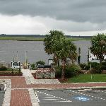 View from the 2nd floor public balcony - Cumberland Island ferry on right