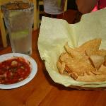Outstanding salsa and warm chips