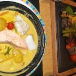 kebab & fish stew
