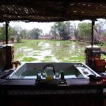 Jacuzzi overlooking the lagoon