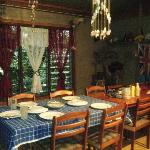 The dining table where we ate the traditional feast