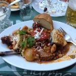 Greek plate, tyvärr påbörjad... ljuvligt god!