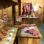 Metis Artist Mark MiLan evolved Metis Sash Fashions at the Klahowya Village Barn