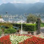 From door of hotel, looking towards Lake Como
