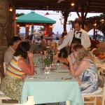 People enjoying their meal at the restaurant