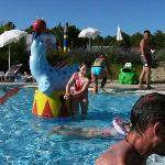 Water games in the kids' swimming pool